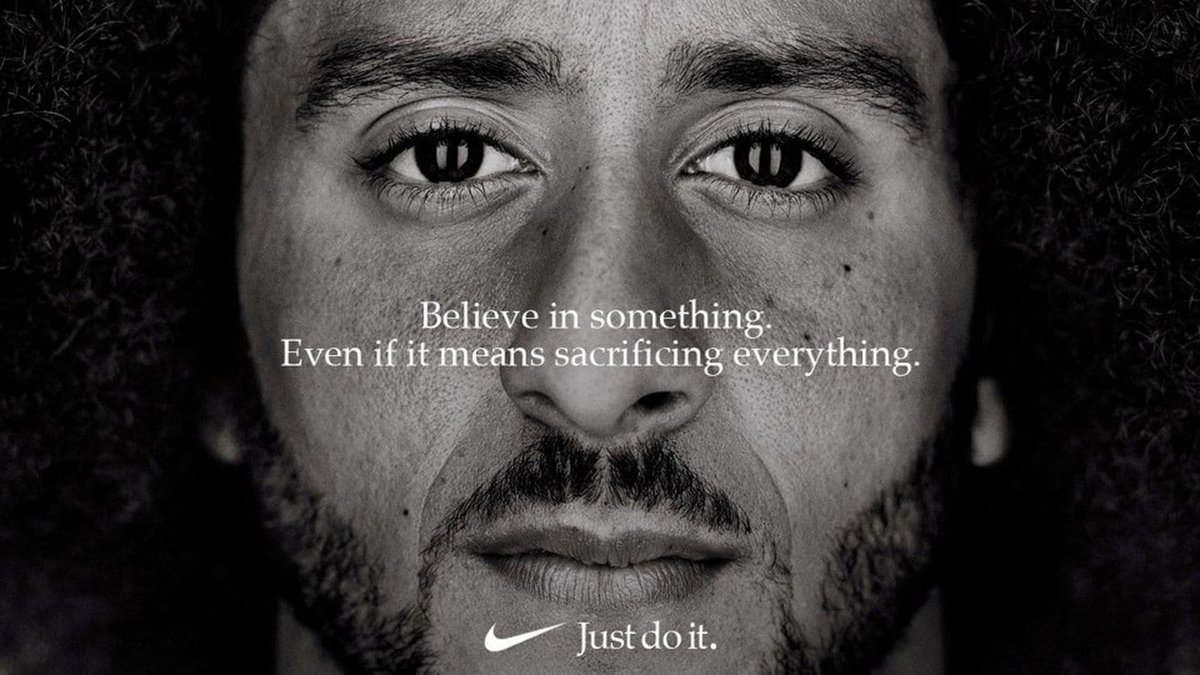 Nikes new slogan: Believe in something, unless that something is freedom for those suffering under communism... that would sacrifice your profits.