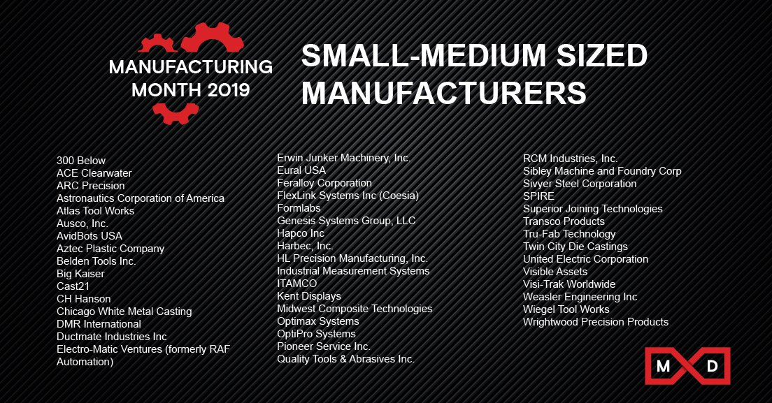 As we continue to celebrate Manufacturing Month, if you're an SMM MxD member, be sure to retweet and tag yourself! @MachinedParts @300below   #smms #smallmediummanufacturers #manufacturing #mfgmonth19