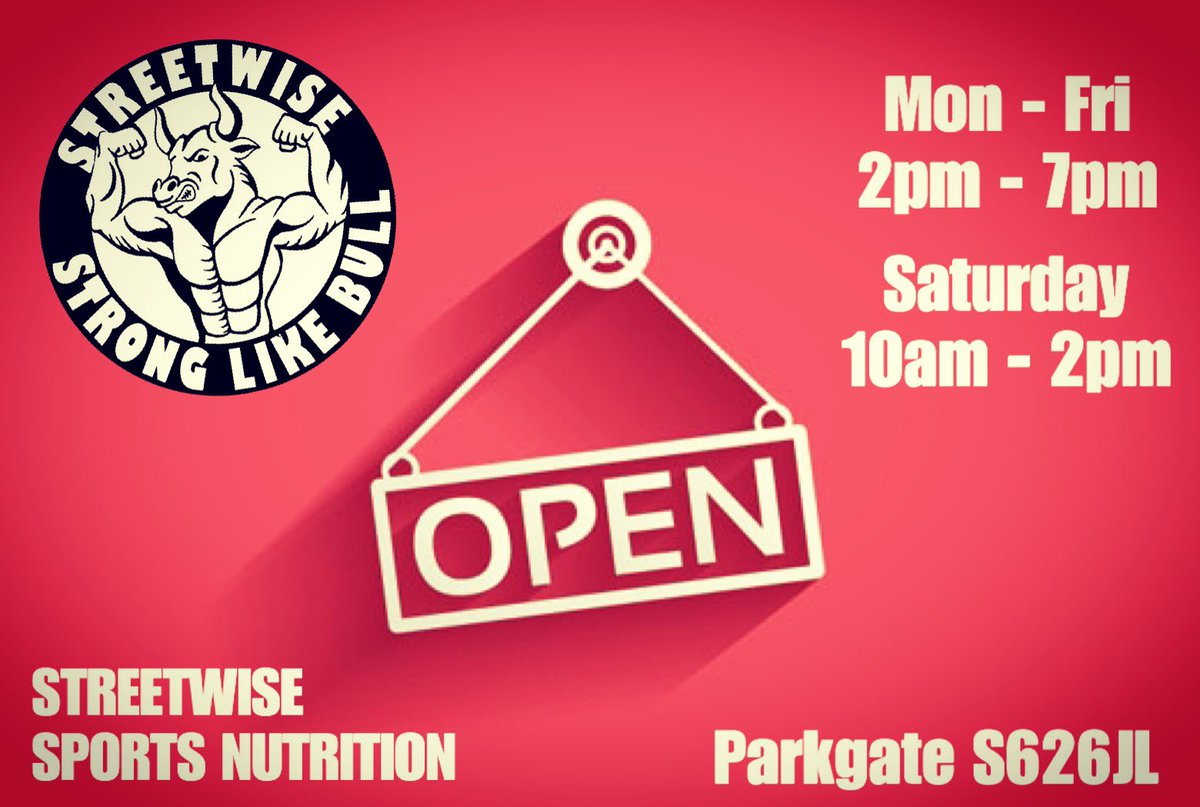 Opening hours. #streetwise  #streetwisecrew  #stronglikebull  #fitfam  #fitness  #hardcore  #lovelife  #livetothemax  #supplements  #nutrition  #trainhard