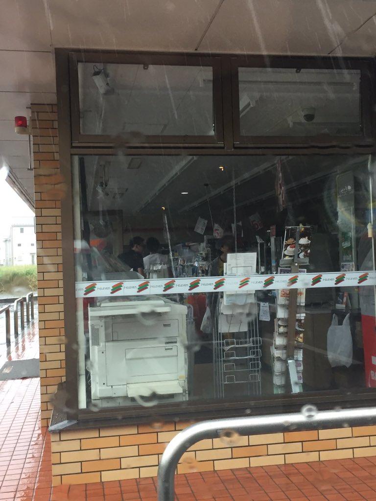 千葉県内のコンビニが停電している現場画像