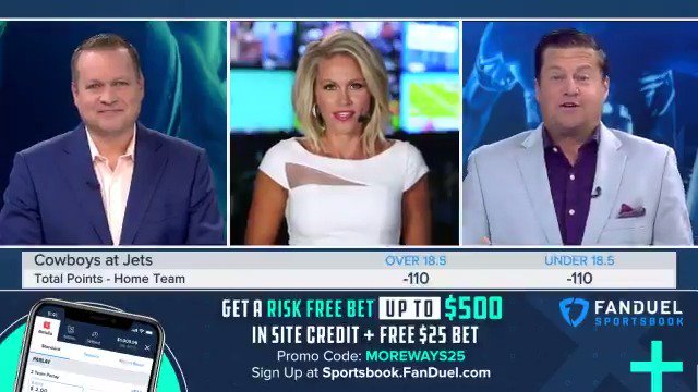 """""""I think the Cowboys are going to be up 24-3 at halftime""""   @mrogondino & @icecoldexacta joined @LisaKerney to discuss point totals for Cowboys vs Jets on the latest episode of @MoreWaysToWinTv 📺"""