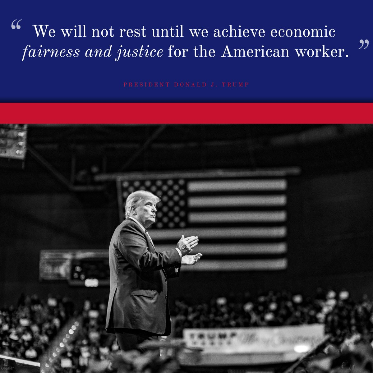 President @realDonaldTrump is standing up for the AMERICAN WORKER!