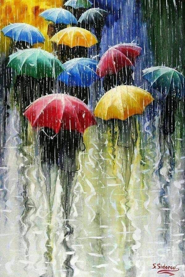 Открытки, картинки хорошего настроения в дождь