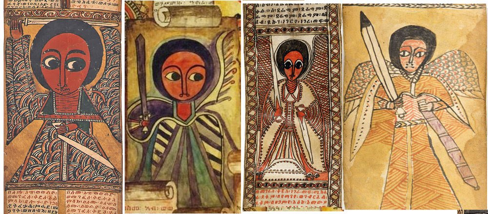 """Eyob Derillo on Twitter: """"In #Ethiopian christanity, #angels have different  functions; praising God, sometimes interacting with humans & as messengers  of God. Ethiopian paintings also reveal the complex world of angels.  Guardian"""