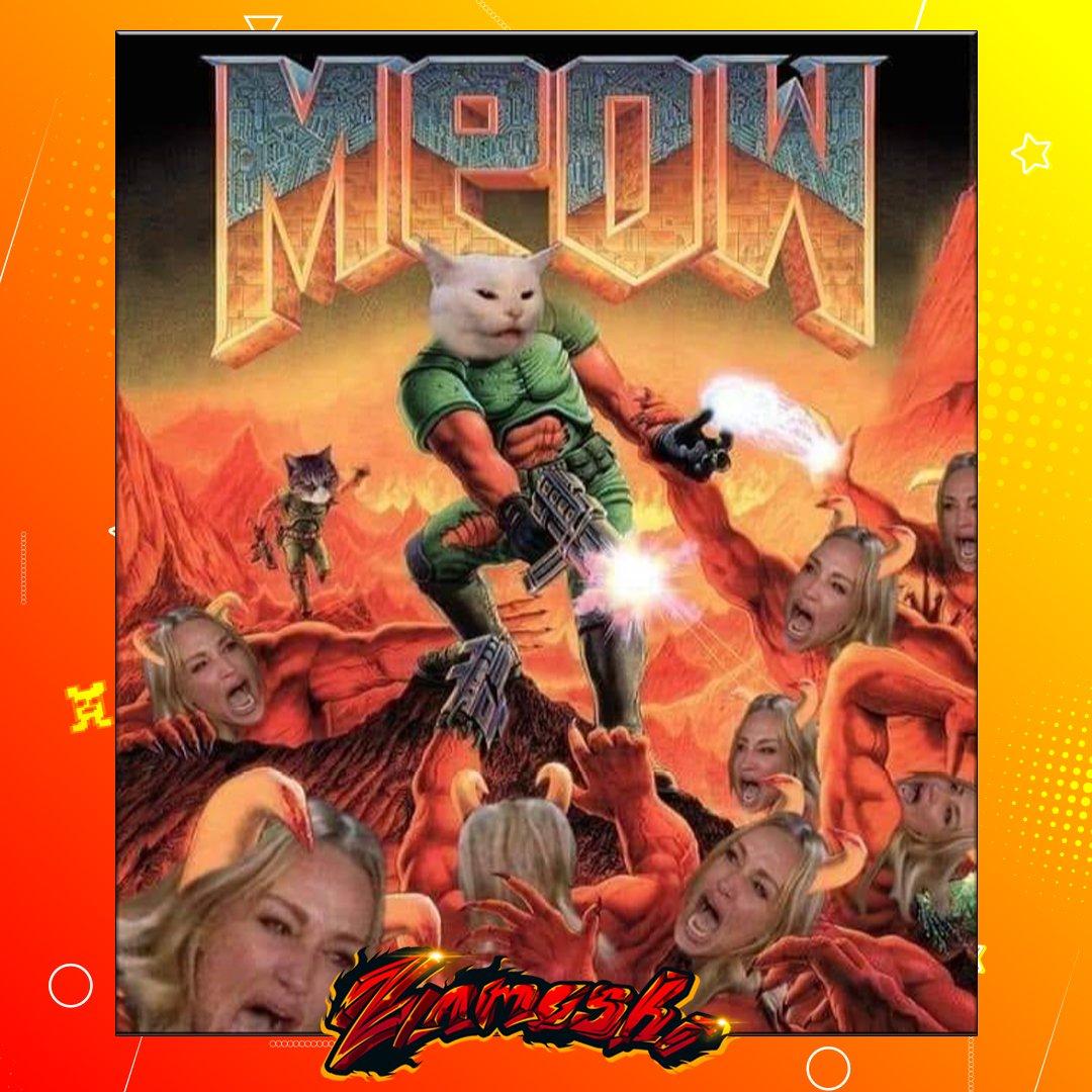 Meow Doom . . @YoSoyZamoshi . . #zamoshi #yosoyzamoshi #podergamer #memeslatinos #memesgamer #memesgamers #gamer #memesespañol #memesvideojuegos #memesespañoles #memesanime #gamermeme #gamerdecorazon #humorgamer #soloparagamerspic.twitter.com/s9b69aFXOi