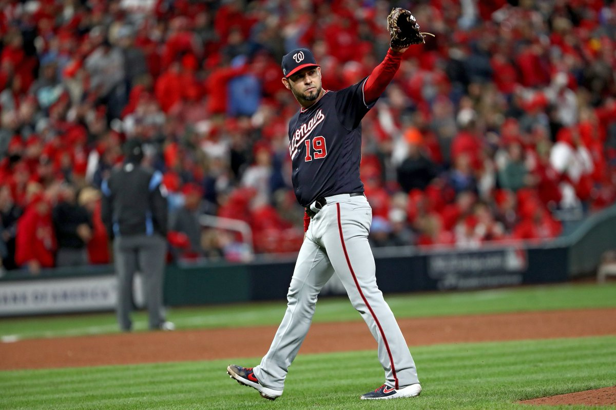 Nationals pitching dominates Cardinals in NLCS Game 1 💨 Aníbal Sánchez takes his no-hitter into the 8th inning in Washingtons 2-0 win.