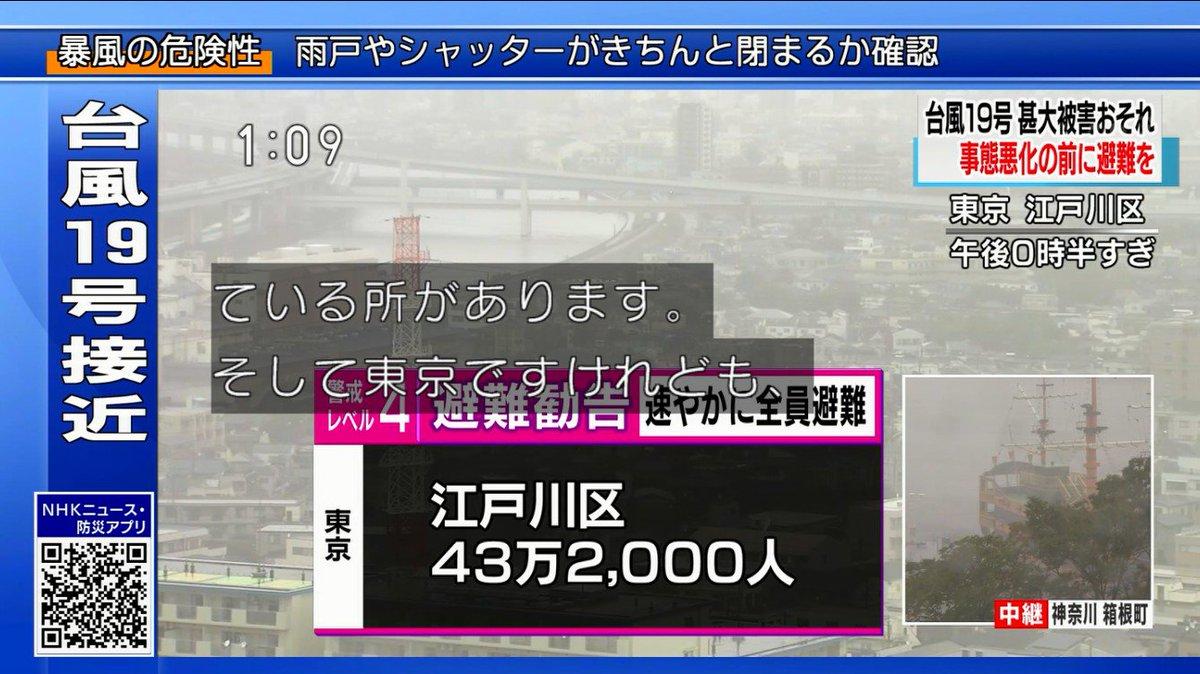 江戸川区43万2000人に避難勧告 速やかに全員避難で草師団43個分の人員をどこへ逃がすんだ…