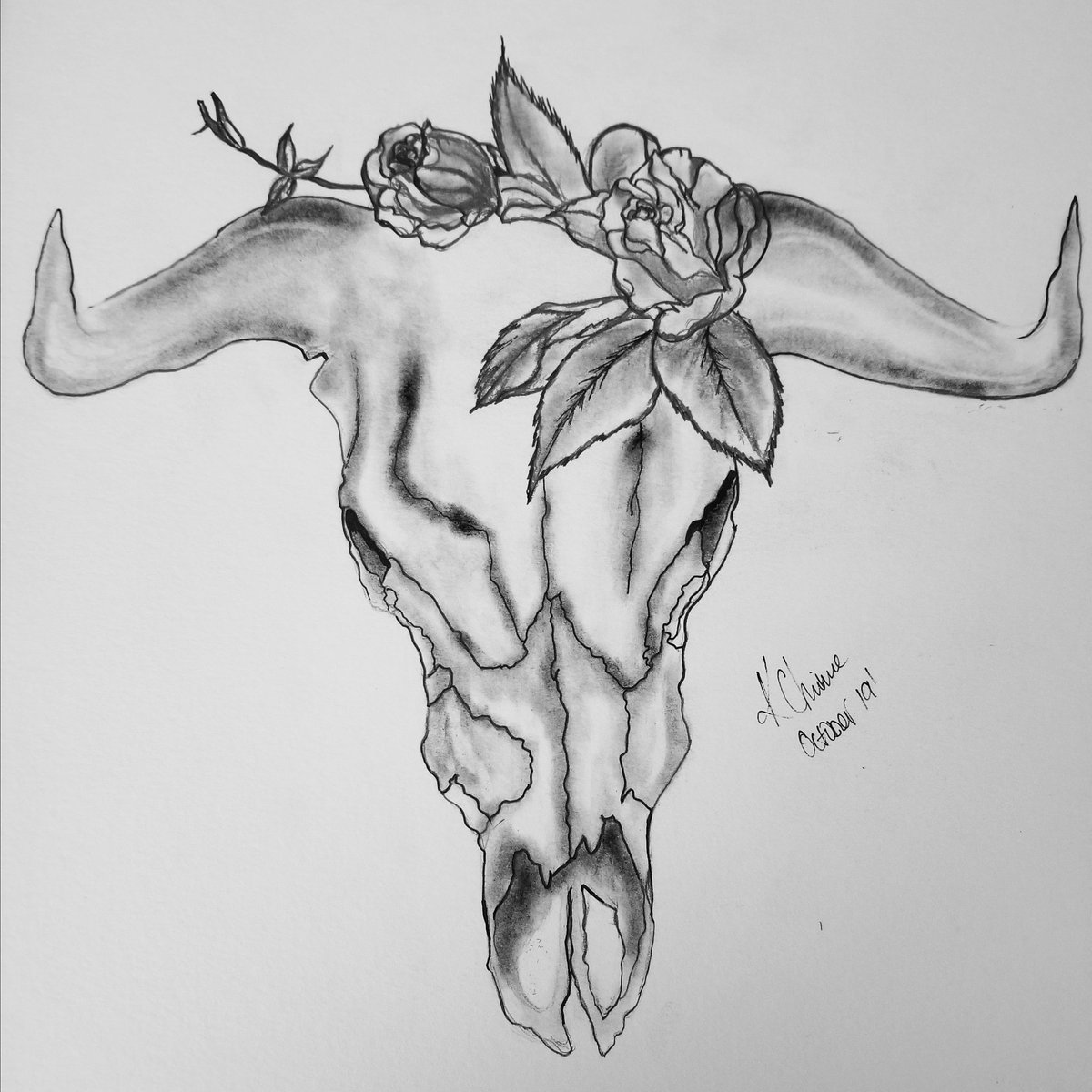 Took a few days off, but im back with #inktoberday11 see all of my inktober drawings here: http://www.instagram.com/wikkedartistry ____________________________________ #inktober2019  #cattel #cattelskull #pencil #charcoaldrawing #ink #roses #leaves #rosedrawing #blackandwhite #pencildrawingpic.twitter.com/uEtDGa7PtI