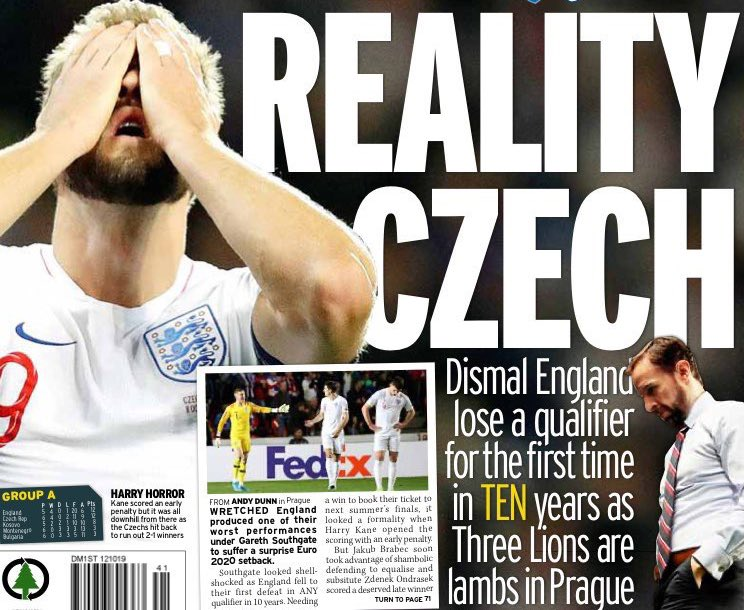 """Inside the offices of every single newspaper, Friday night: """"I've got it! How about 'Reality Czech'?""""  Inside the offices of The Telegraph, Saturday morning: """"...oh, you meant Czech, like the country? OK, yes I see now that would have made sense.""""  (hat tip @ciaranmcrory) https://t.co/6ea85Fp1yz"""