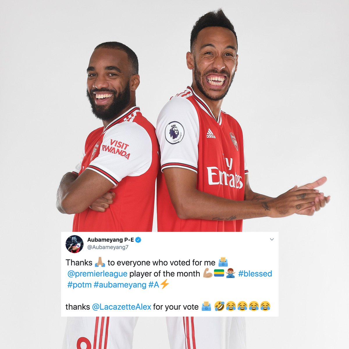 These two 😂❤️ @Aubameyang7 🤝 @LacazetteAlex