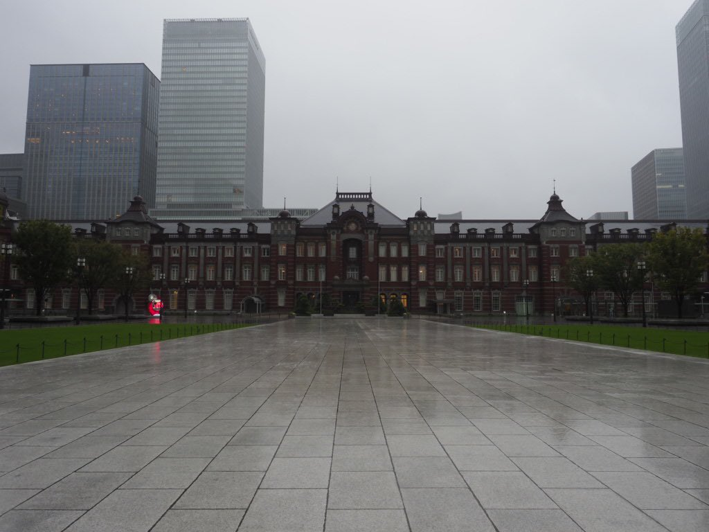 完全閉鎖された東京駅鉄道は既に使えなくなりました。