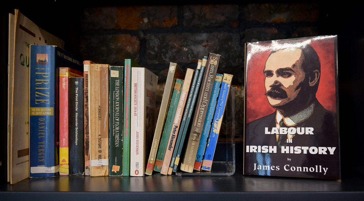 Our Connolly Library has been developed with the help and support of Conor Kenny of the famous Kenny's Bookshop The library offers a quiet and reflective space for researchers, academics and those seeking to grow and develop their understanding of James Connolly Visit today!