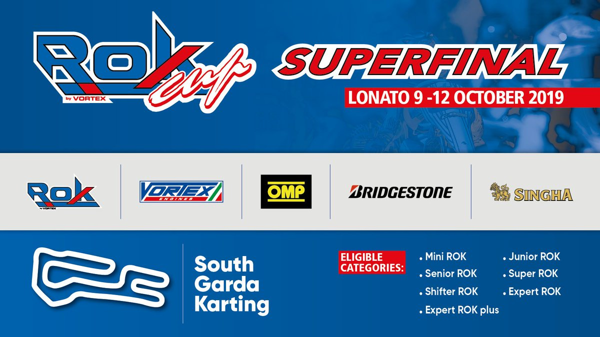 It's FINALS' day at South Garda! Follow the conclusion of the ROK Cup Superfinal with live timing/streaming (from 11:40)!  >> https://theracebox.com/the-rok-cup-superfinal-live/…  #RokSuperFinal2019 #SouthGarda #Lonato #Karting #TheRaceBox #RoadToF1