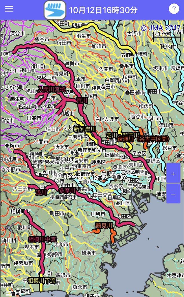 荒川 水位 熊谷