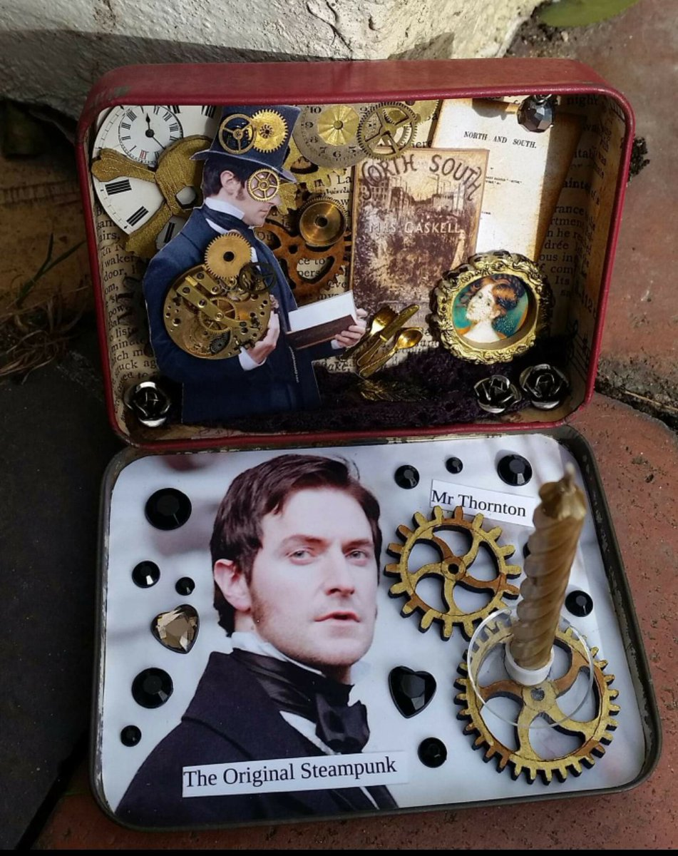 As im stewmpunking this wkd, it feels like a good time to repost about my beautiful #Steampunk inspired Mr Thornton RAPS made by the extremely clever @GuyltyPleasure #NorthandSouth #MrThornton #RichardArmitage