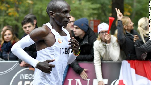 Kenyas Eliud Kipchoge becomes the first person ever to run a marathon in under two hours  https://cnn.it/2oooedH