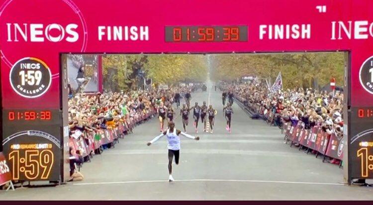 'No human is limited': Kipchoge runs sub-2 hour marathon - Top Tweets Photo