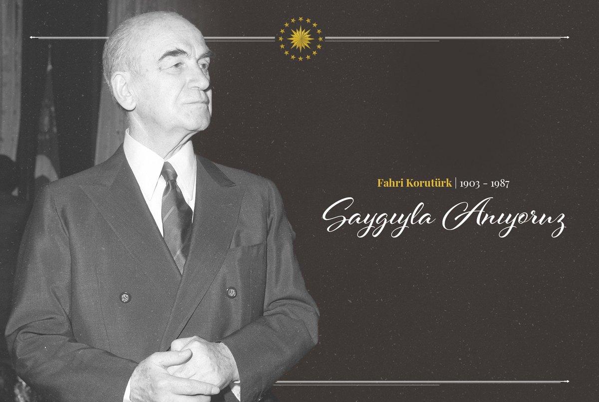 Türkiye Cumhuriyetinin 6. Cumhurbaşkanı Fahri Korutürk'ü vefat yıl dönümünde rahmet ve saygıyla yad ediyoruz.