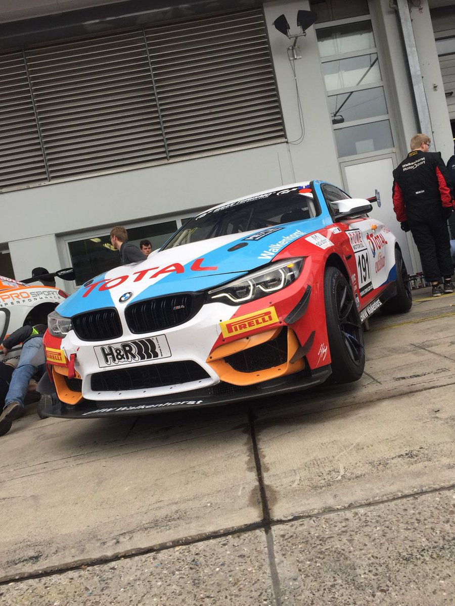 Awesome qualifying today, starting P2 in the #191 @Walkenhorst_MS   @BMWMotorsport Total M4 GT4! Race start 11.00am UK Time  Follow live coverage at: https://t.co/IOuKqwKMoE  And in the SP10 class on Live Timing at: https://t.co/cqs2TVx3C0  #TeamBTR #Walkenhorst #BMWMotorsport