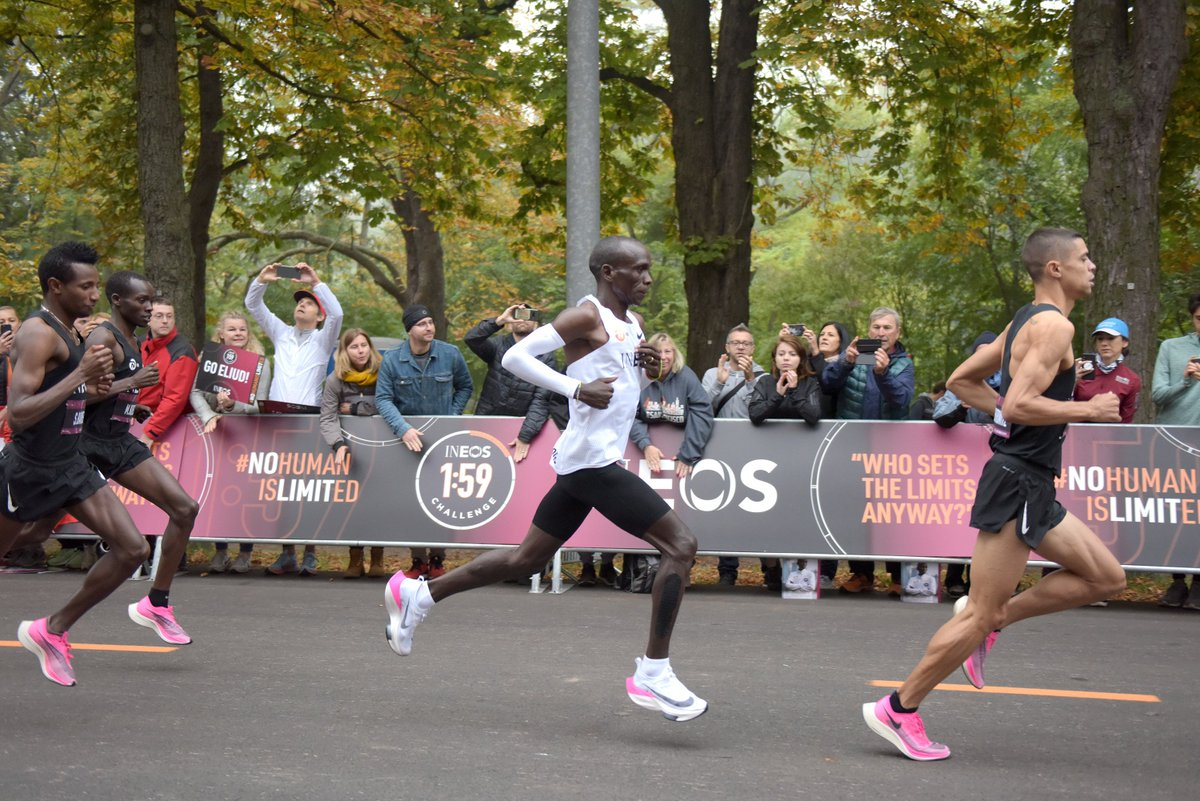 A Kenyan man called Eliud Kipchoge has just ran a full marathon (26.2 miles) in under 2 hours (01:59:40) and I've no idea what to do with the information.That's an average of 100m every 17 seconds, for the whole distance.What the actual f*ck.