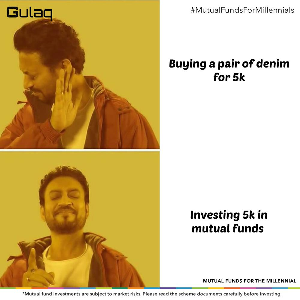 A pair of denim now or all the shopping you want to do later? Plan today and start investing. Register now: http://bit.ly/Gulaq-Register   #MutualFundsForMillennials #MutualFundspic.twitter.com/8PFXSHpRHd