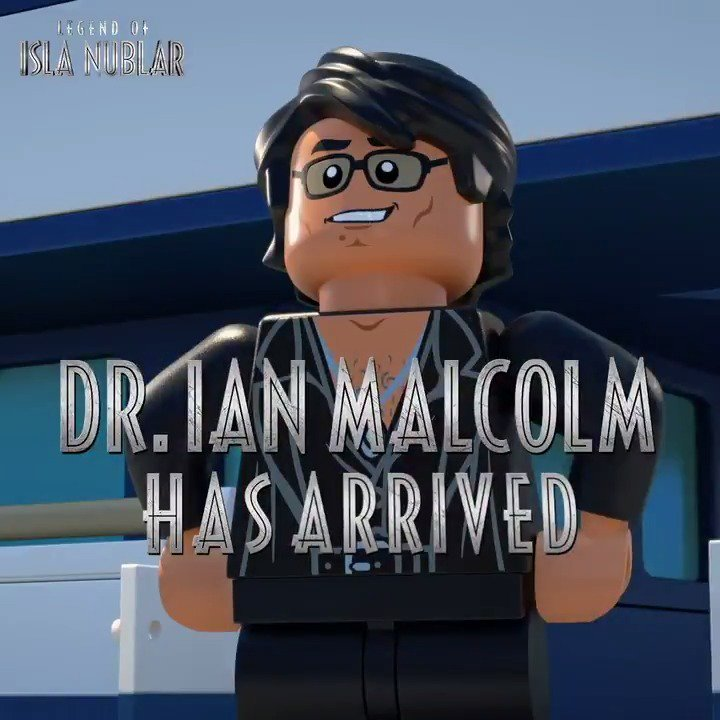 Dr. Ian Malcolm is here to stay. Catch him in a new episode of @LEGO_group #JurassicWorld Legend of Isla Nublar, today on @Nickelodeon.