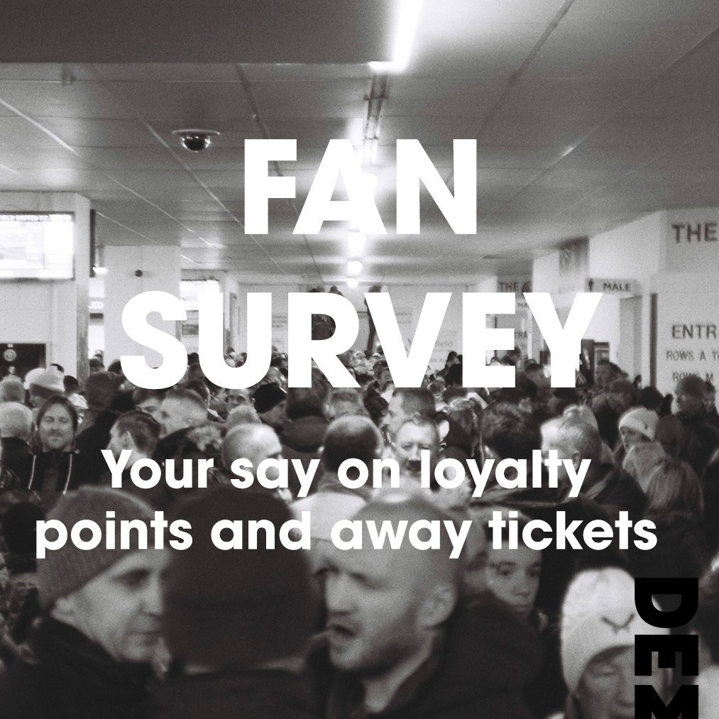 A fan survey on SUFC's loyalty points system and away match ticketing.   Join the conversation here:  https://www. surveylegend.com/s/1rv2      -Please RT to increase the sample size.- #twitterblades #sufc<br>http://pic.twitter.com/DwF0Kp0DGG