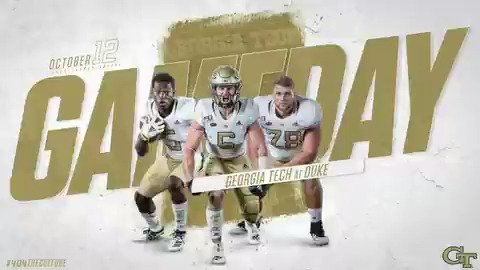 It's GAMEDAY in Durham 🐝🏈💪 📍 Wallace Wade Stadium 🥊 Duke 🕧 12:30p 📺 RSN (@FOXSportsSouth in #ATL) 📻 @680TheFan 📱 GT Gameday App #404theCULTURE