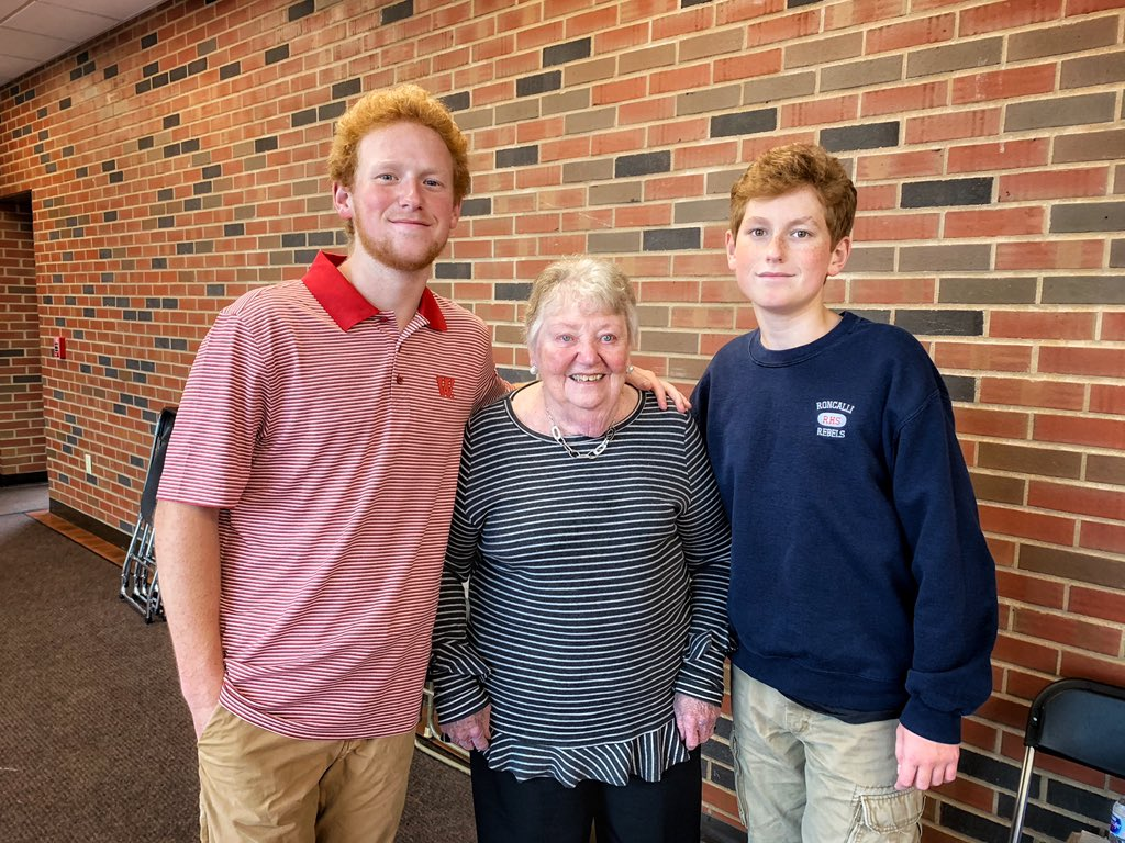 Angela White On Twitter Grandparents Day Roncallihigh Great To Have Our Wabashcollege Gentleman Home To Join His Brother In Celebrating Grandma Rita Https T Co 7t1yegmdnu