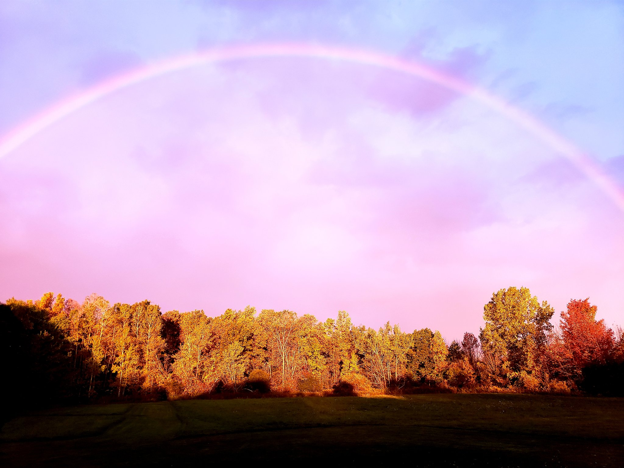 Rainbow in the sky (photo)