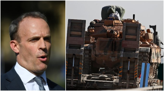Turkey's assault in Syria weakens fight against IS, says Dominic Raab itv.com/news/2019-10-1…