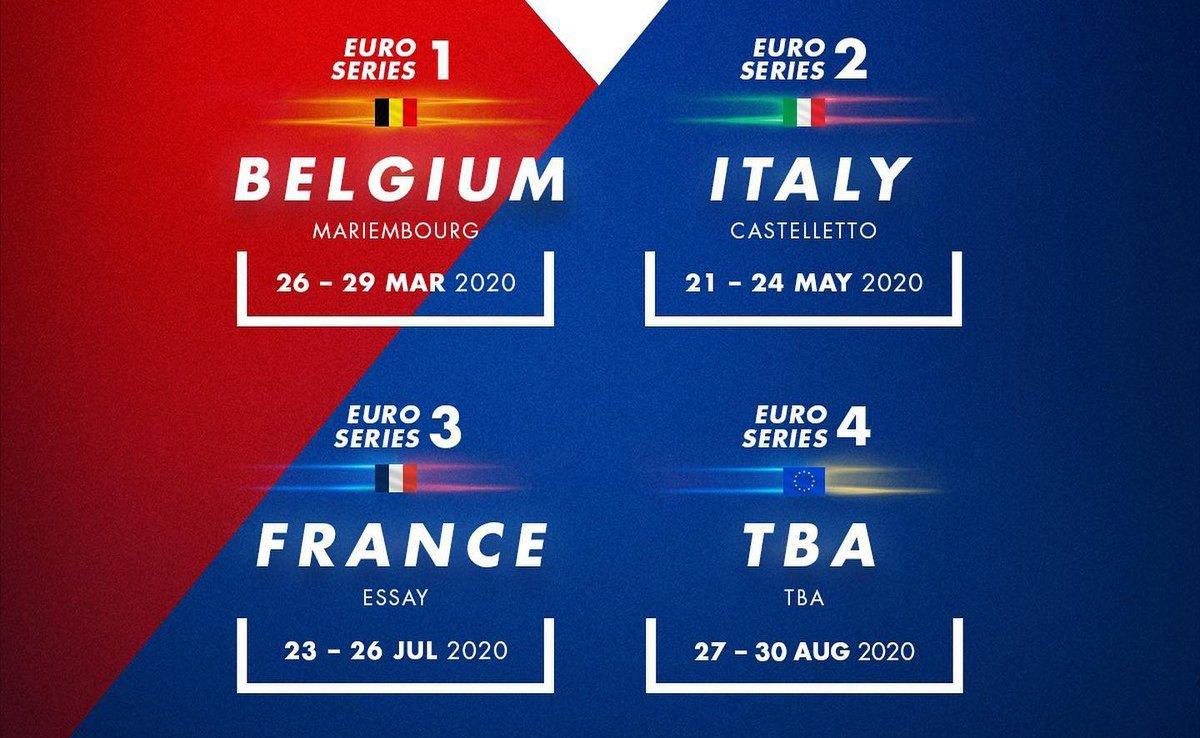 The full 2020 IAME X30 Euro Series by @rgmmc calendar confirmed  >> https://bit.ly/2M9aSL9   #Karting #rgmmc #Iame #IameEuroSeries #RoadToF1 #TheRaceBox
