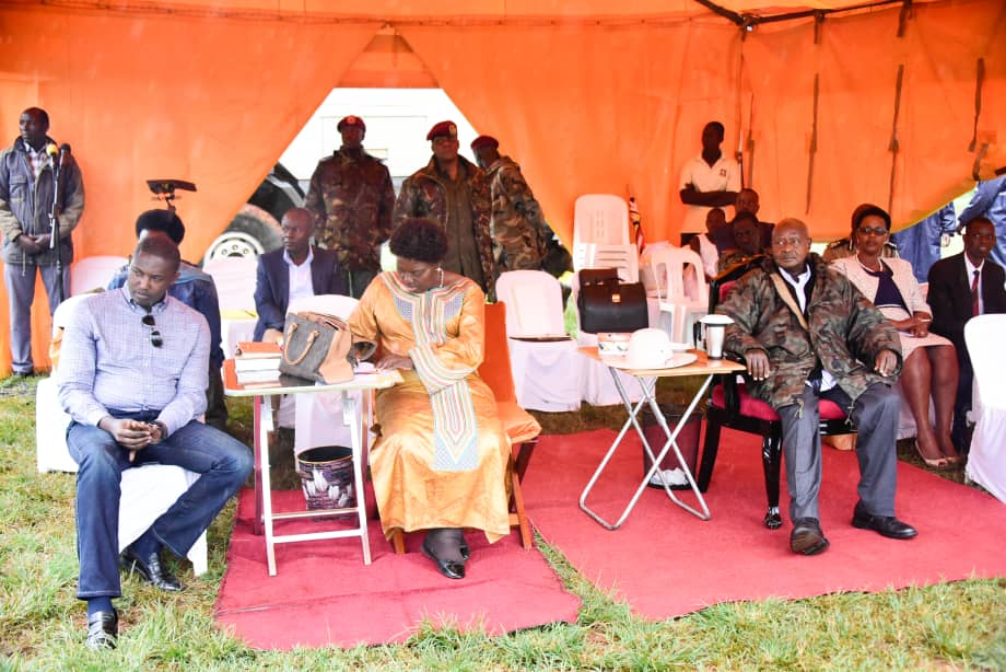 He was in the company of @RebeccaKadagaUG at the anniversary celebrations for the World Mekaddishken Ministries in Jinja. The two rooted for respect and tolerance across denominations