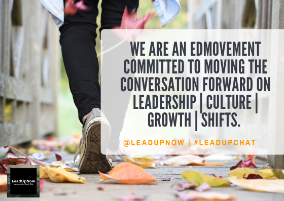 Living with purpose? The mission guides our values at #LeadUpChat | @Leadupnow