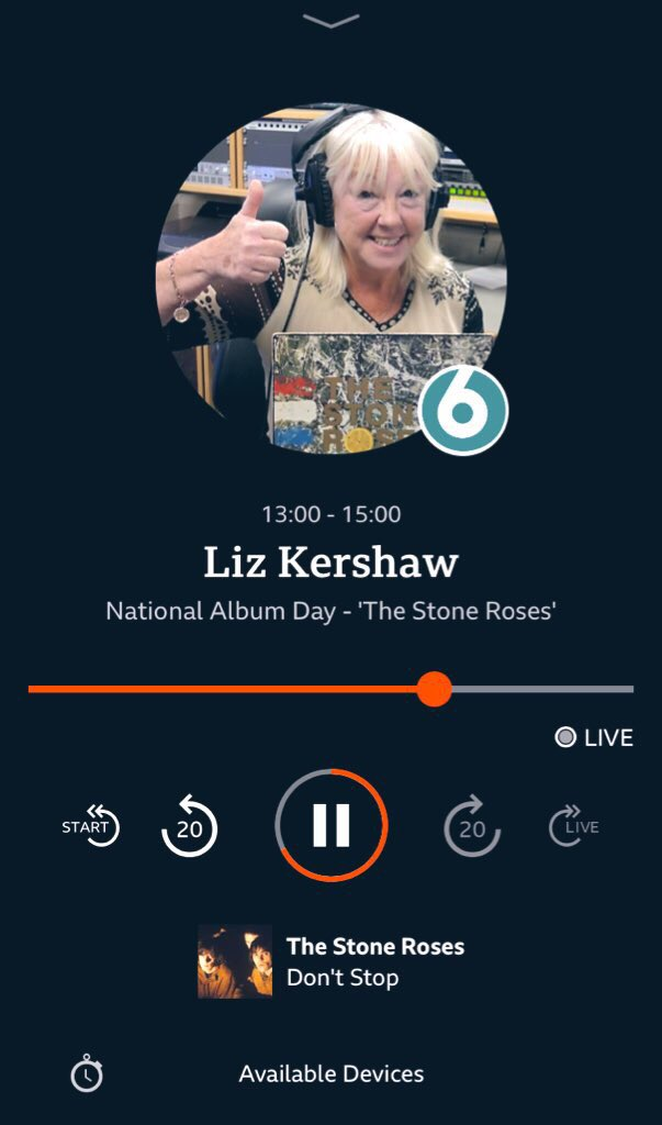 & now Liz Kershaw playing The Stone Roses. My house in clean & my heart is happy. I can even put into words what music does to my mind & body. 🖤