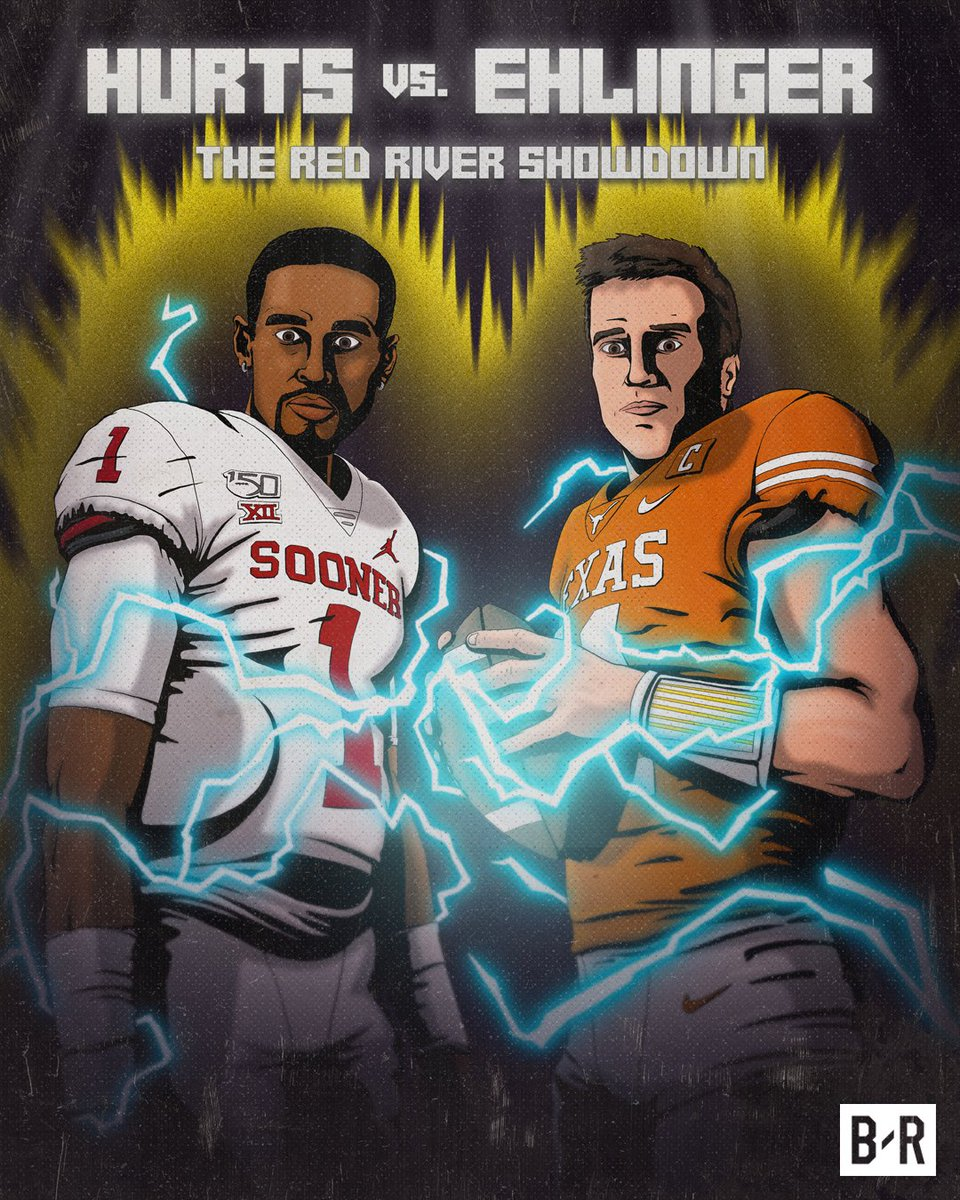 Replying to @BleacherReport: Oklahoma vs. Texas about to be a show 🍿