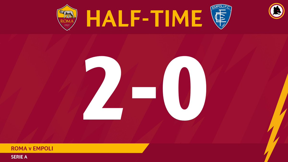 Early goals from Bernauer and Thomas have us ahead at the break now! 💪 #ASRomaWomen #ASRoma