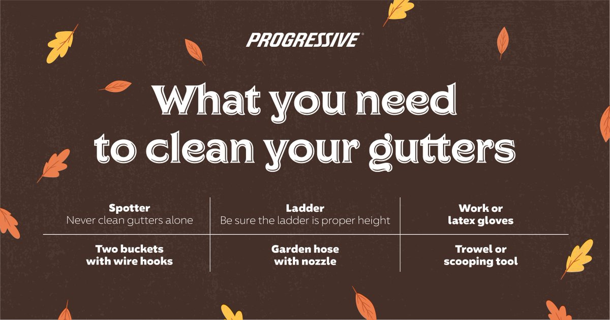 #Fall is all about those leaves, and some of them end up in your gutter. Heres what youll need for a safe and thorough cleanup.