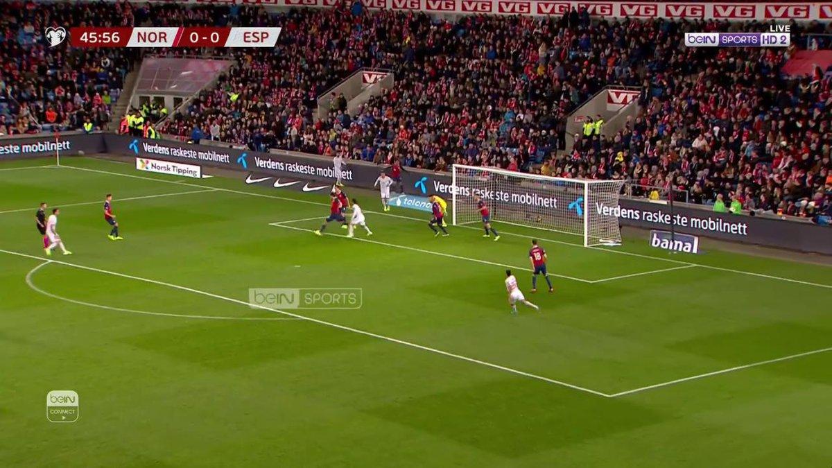 هدف ⚽️ ساؤول يفتتح الشوط الثاني بهدف في الدقيقة الأولى. النرويج 0 إسبانيا 1 #EURO2020