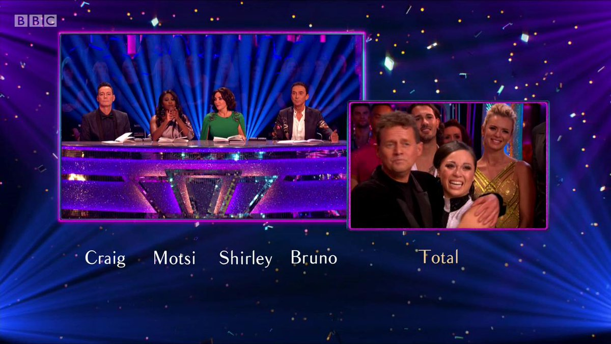 What a night at @bbcstrictly. Some seriously good performances. Lovely to see @AlexScott & @mikebreakfast LIVE. I think Mike was happy with his scores 😂👏🏻😂👏🏻 #StrictlyComeDancing #Strictly2019