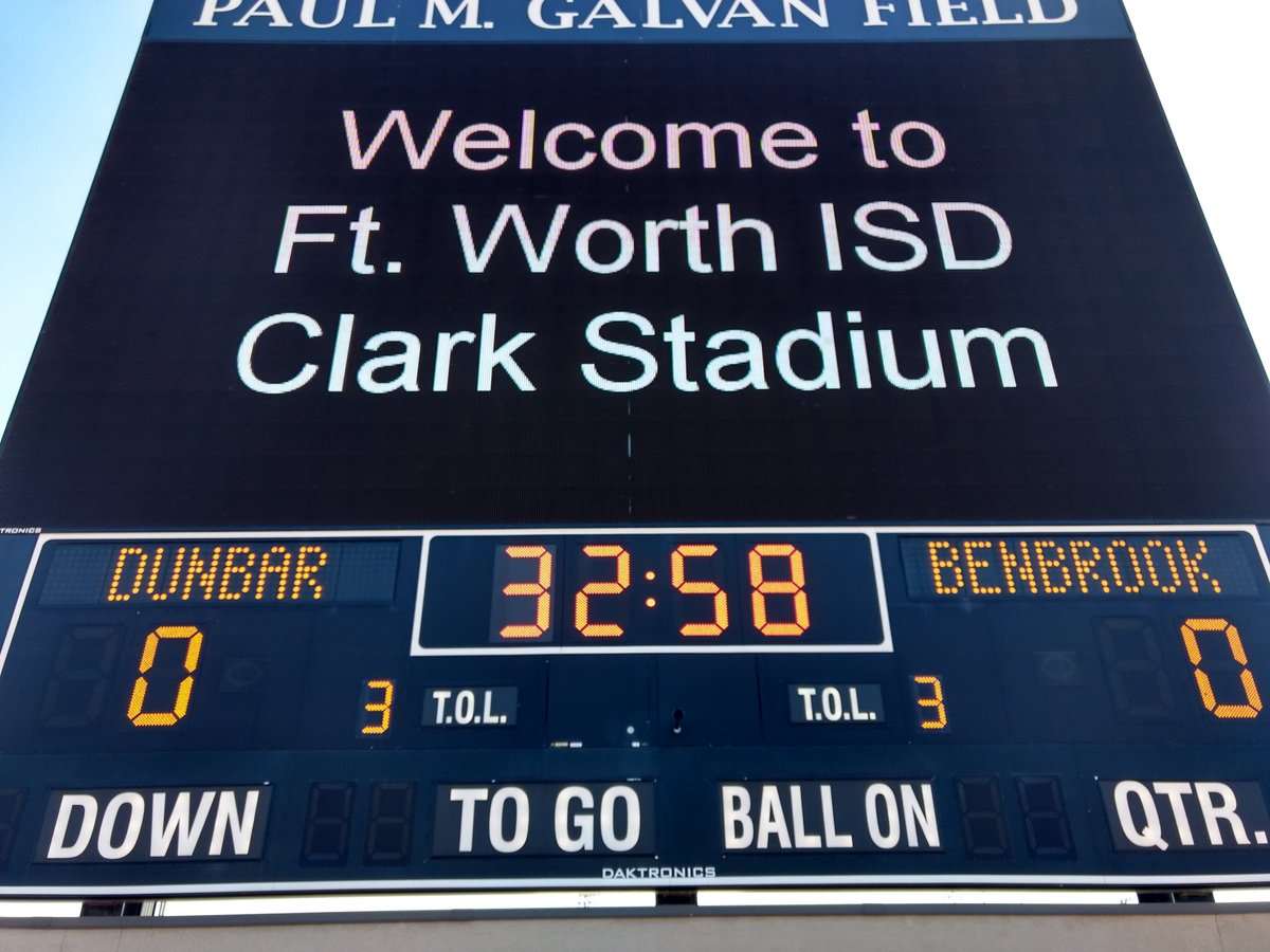 Texas High School Football on an awesome Saturday. Dunbar hosting Benbrook at Clark Stadium in Fort Worth.
