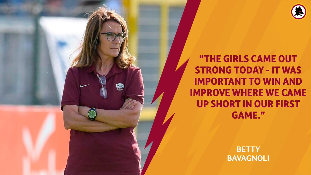Coach Bavagnoli was pleased with the effort today... 💪 ➡️ asroma.com/en/news/2019/1…