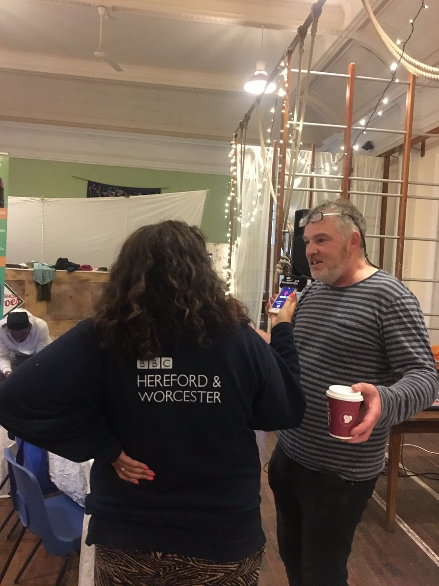 Liam chatting to BBC Herefordshire before the show!