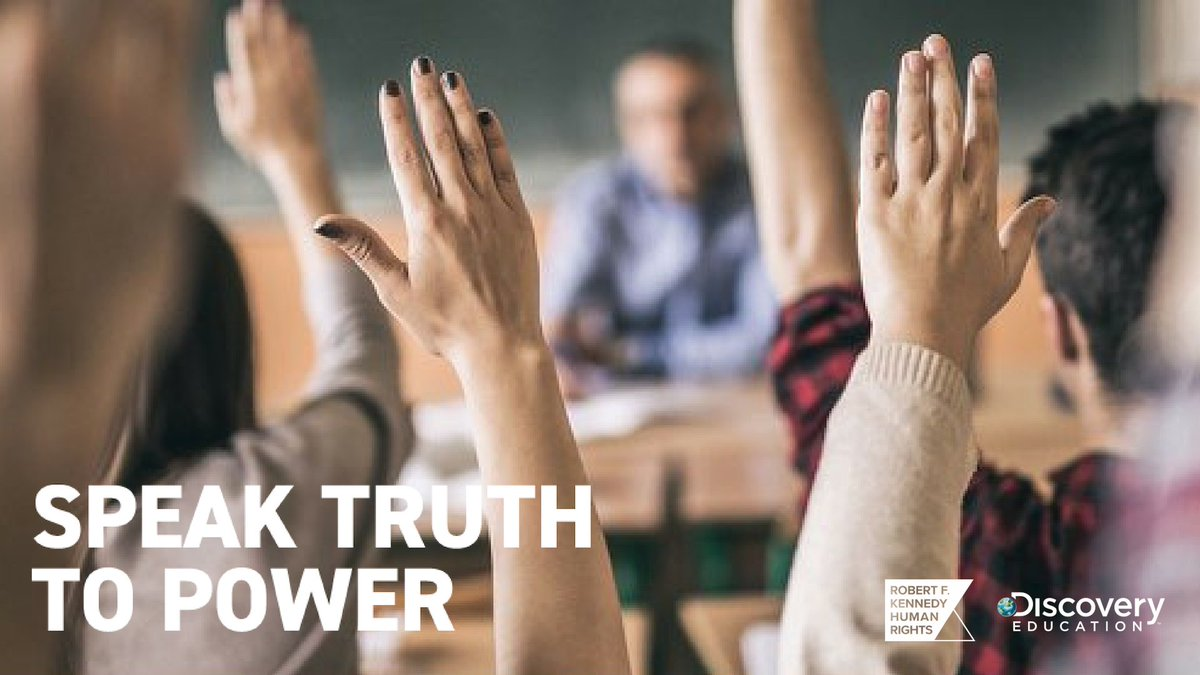 It's important that students have strong and compassionate role models. Explore the stories of some of the world's most influential leaders and human rights defenders with #SpeakTruthToPower's Virtual Field Trip available on demand! bit.ly/2lSNBlX @RFKHumanRights