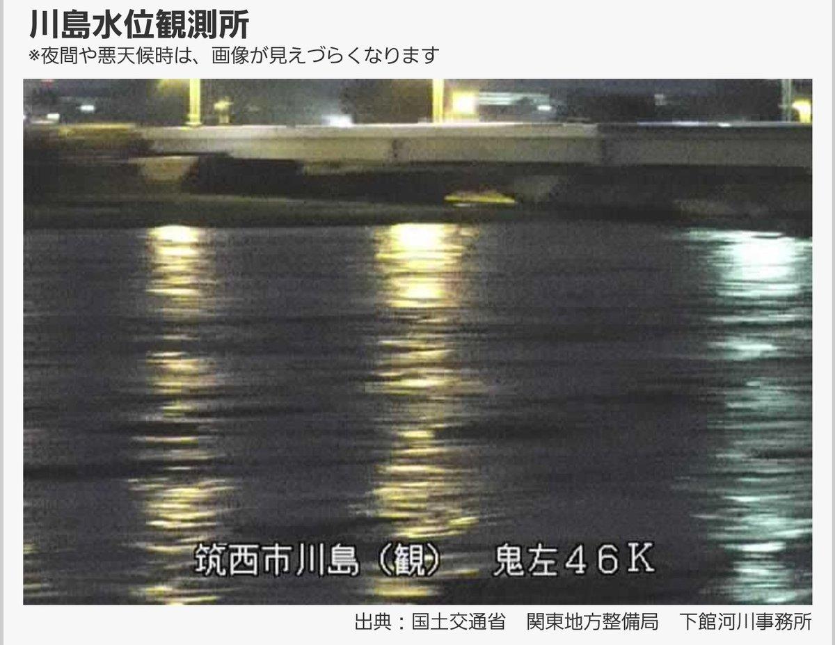 鬼怒川 水位 川島