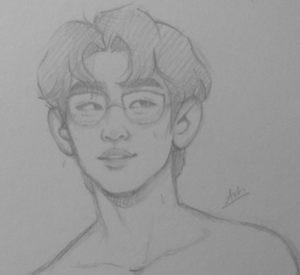 #GOT7inLondon jinyoung x glasses fanart  if i get some retweets i can show the full drawing ☻ <br>http://pic.twitter.com/xglCkQN0kw