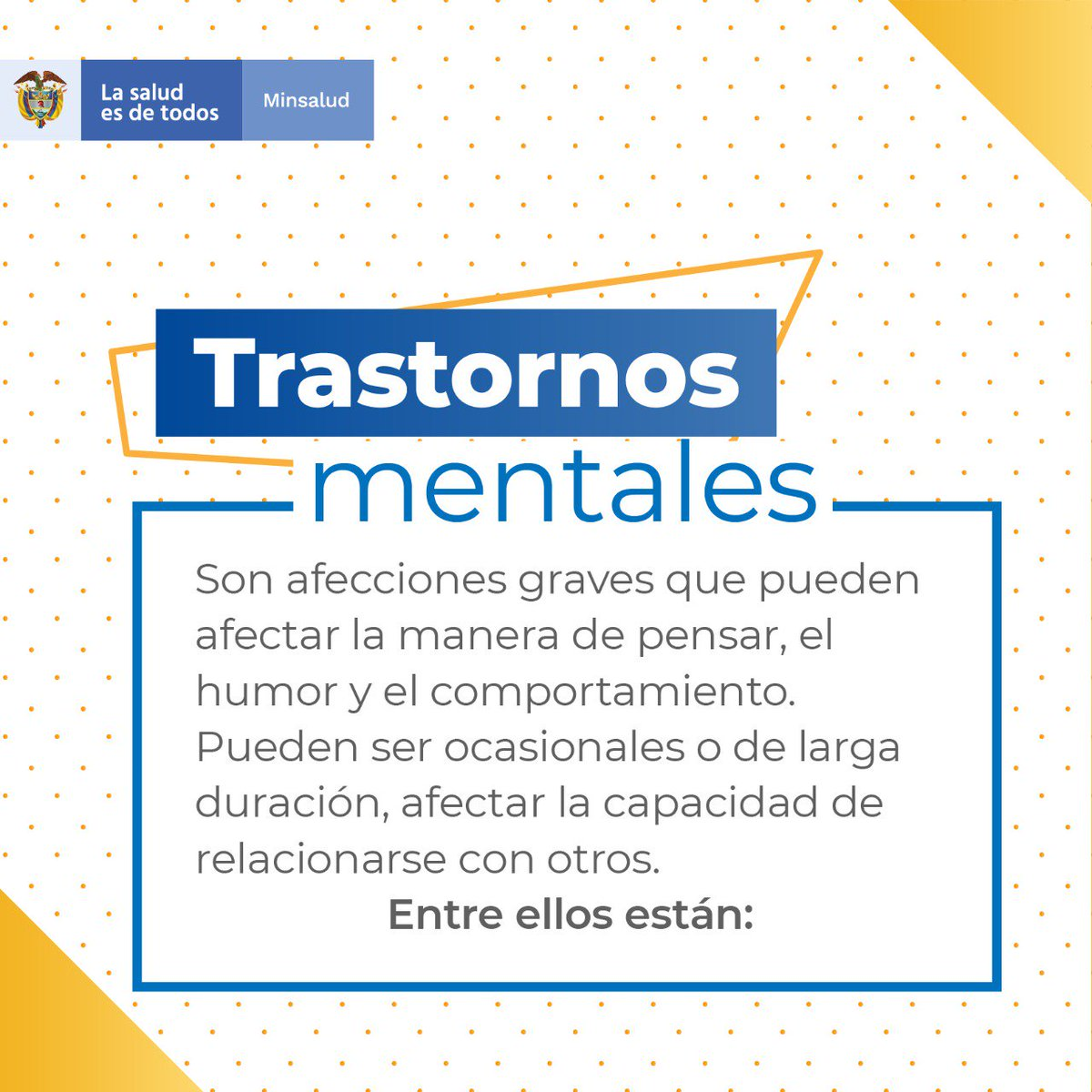 Es importante que sepamos qué es un trastorno mental y cuál puede estar afectándonos. #HablemosDeSaludMental y fomentemos su promoción y prevención. 👉http://bit.ly/2VfbDVX #Santander