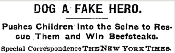 Front-page NYT story, 1908