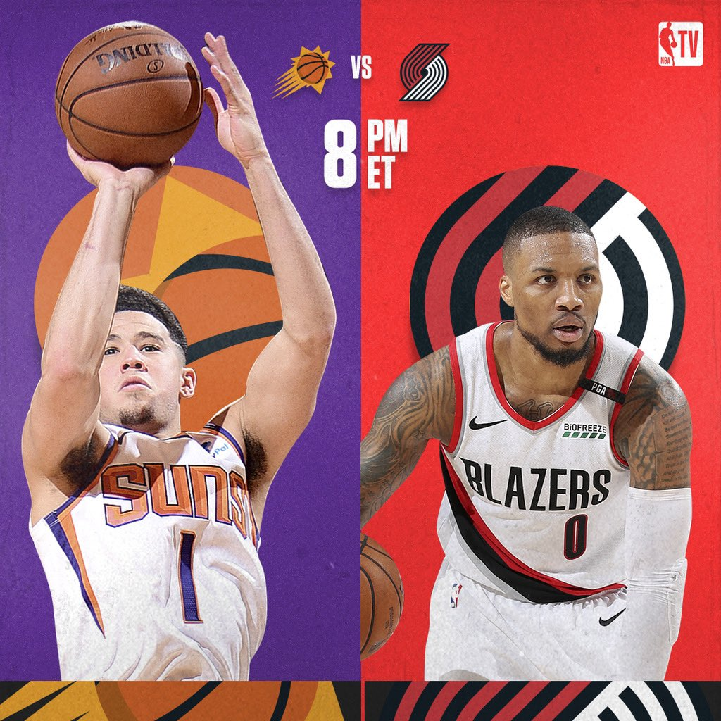 The Suns take on the Blazers in some Saturday night #NBAPreseason action 🔥 @Suns vs. @trailblazers // 8:00PM ET on NBA TV! 📺