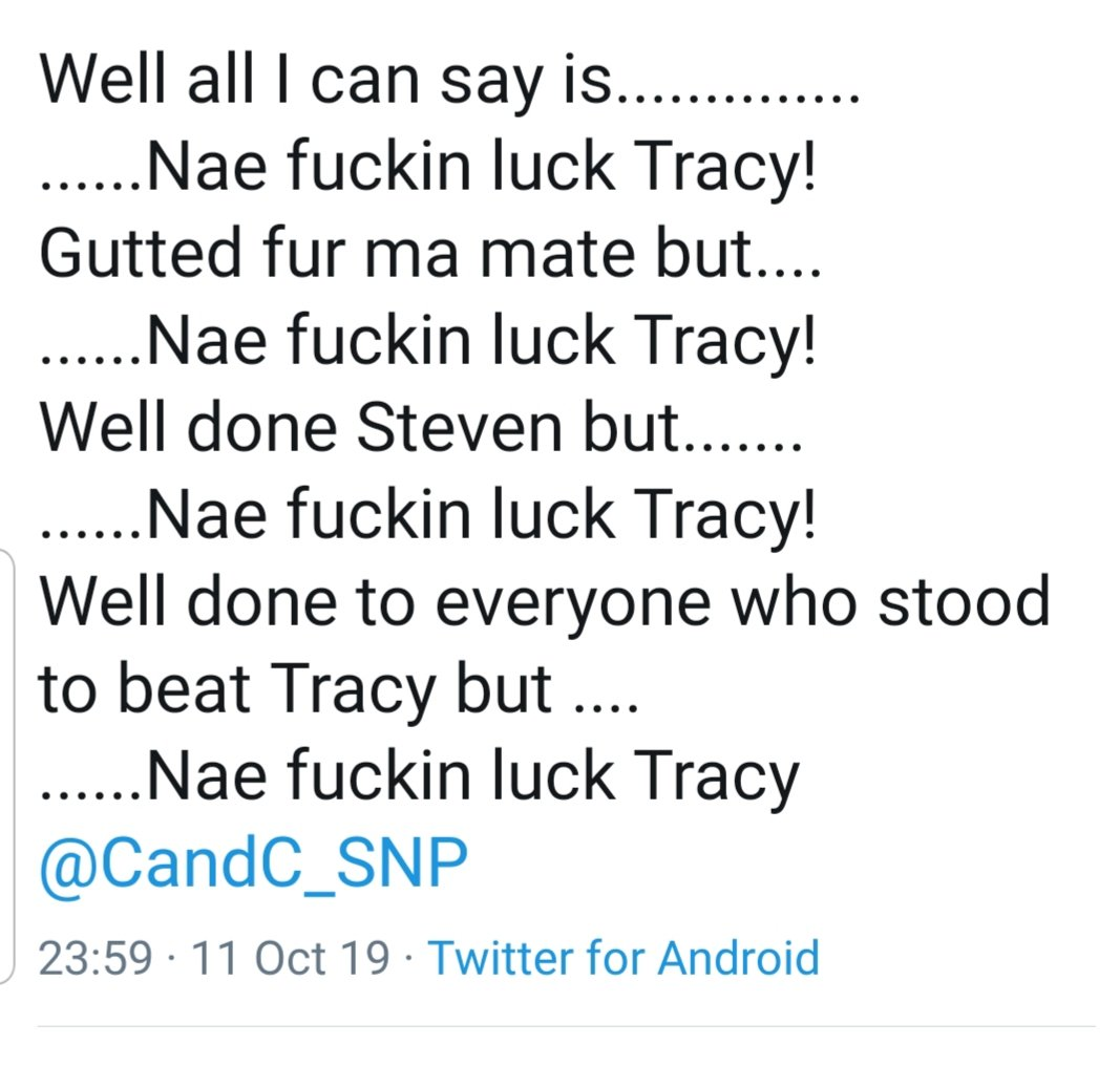 As a potential @thesnp Parliamentary candidate the level of abuse received plus people trying to destroy my reputation intensified.  If we want more under represented groups and #womaninpolitics this relentless form of bullying & intimidation needs to be called out. 1/2 pic.twitter.com/QUXdcnS2zk